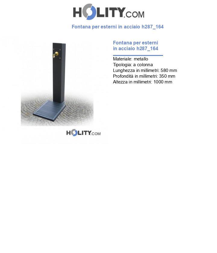 Fontana per esterni in acciaio h287_164