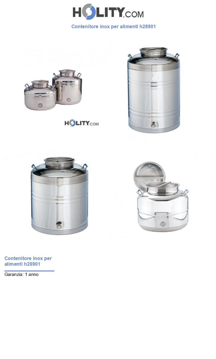 Contenitore inox per alimenti h28901