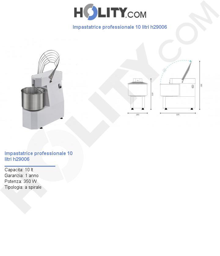 Impastatrice professionale 10 litri h29006