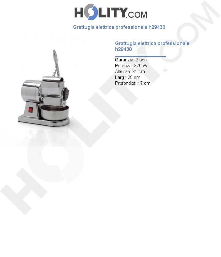 Grattugia elettrica professionale h29430
