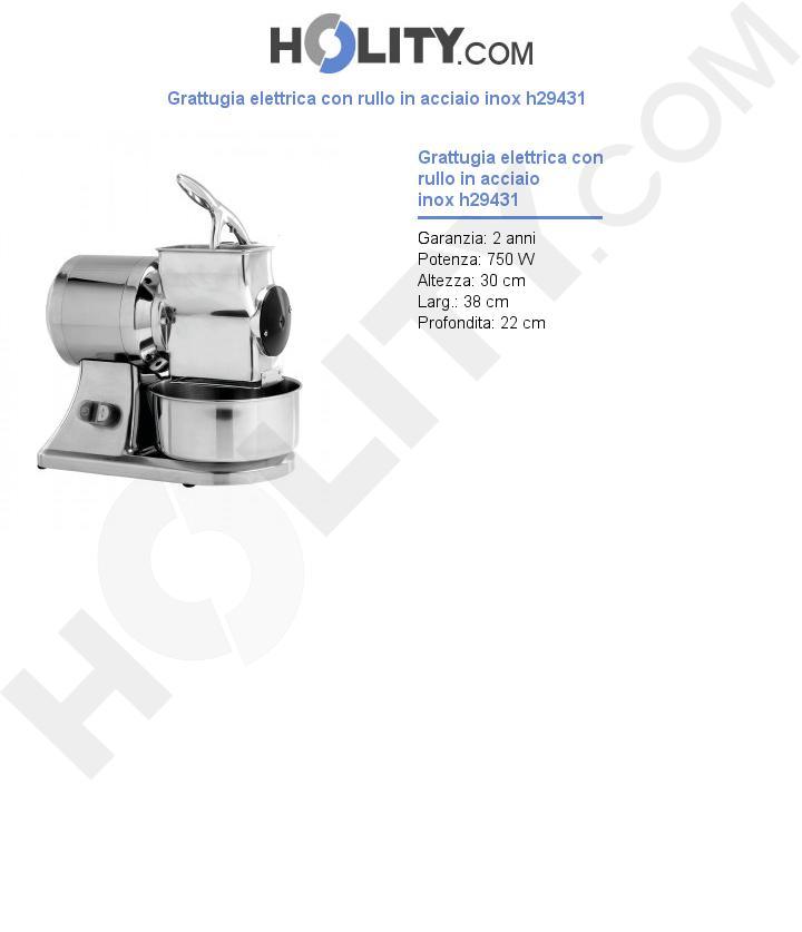 Grattugia elettrica con rullo in acciaio inox h29431