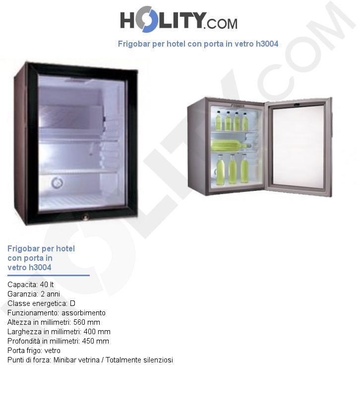 Frigobar per hotel con porta in vetro h3004