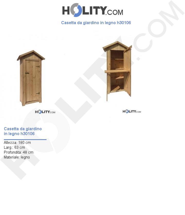 Casetta da giardino in legno h30106
