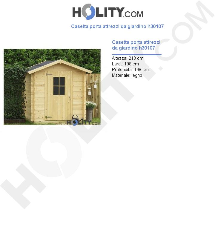 Casetta porta attrezzi da giardino h30107
