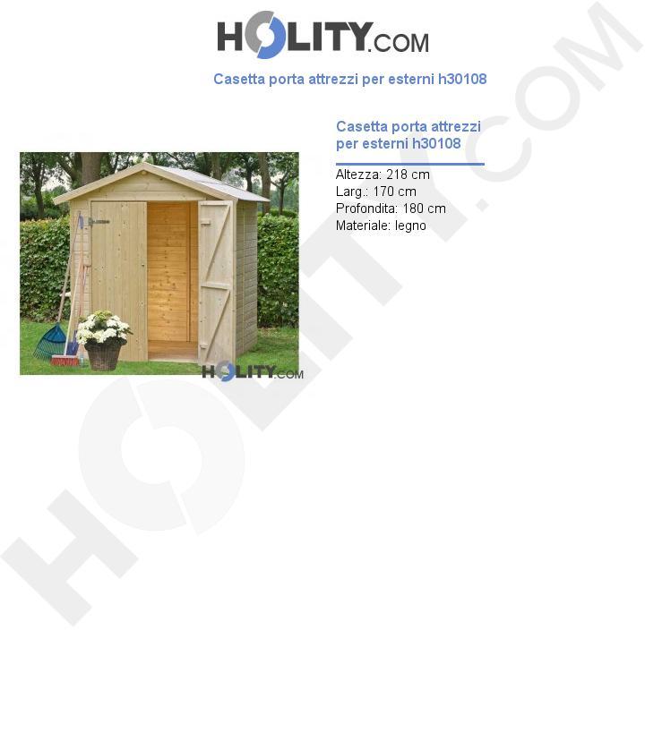 Casetta porta attrezzi per esterni h30108