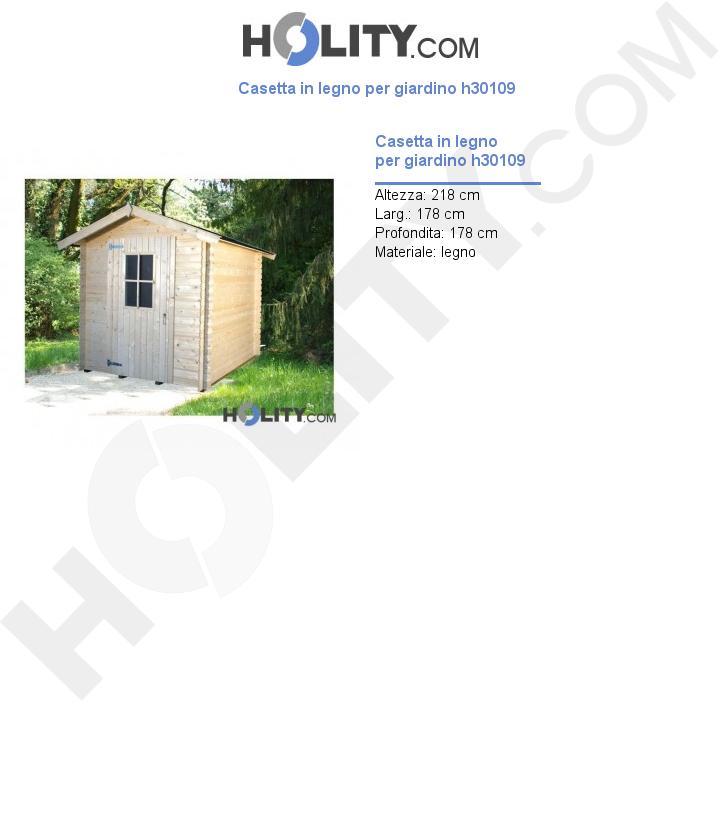 Casetta in legno per giardino h30109
