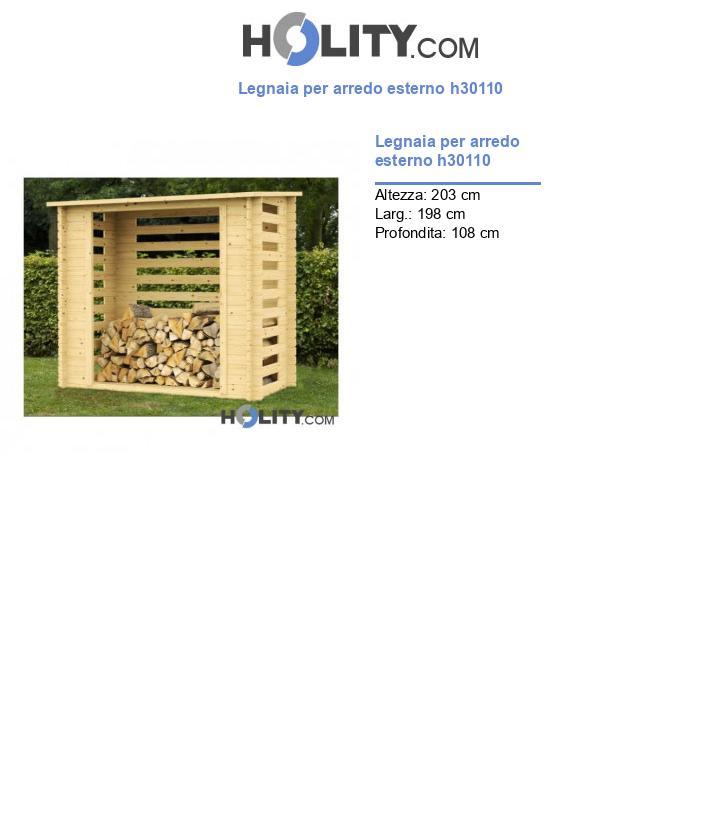 Legnaia per arredo esterno h30110