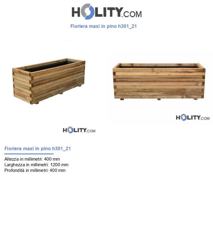 Fioriera maxi in pino h301_21