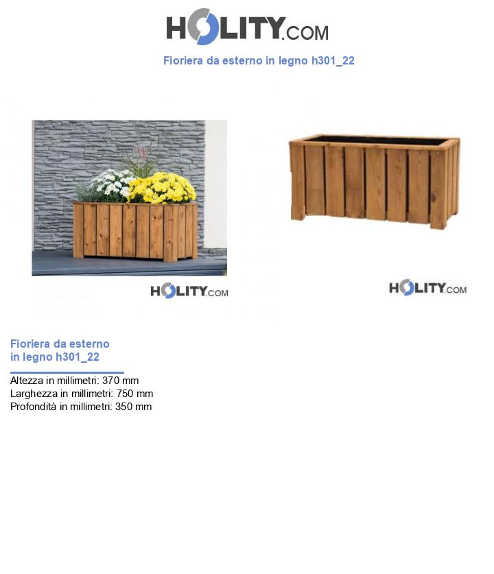 Fioriera da esterno in legno h301_22