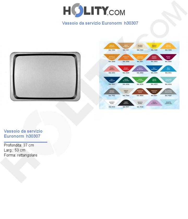 Vassoio da servizio Euronorm  h30307