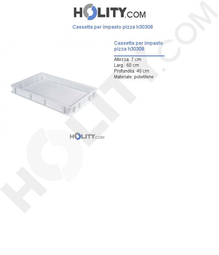 Cassetta per impasto pizza h30308