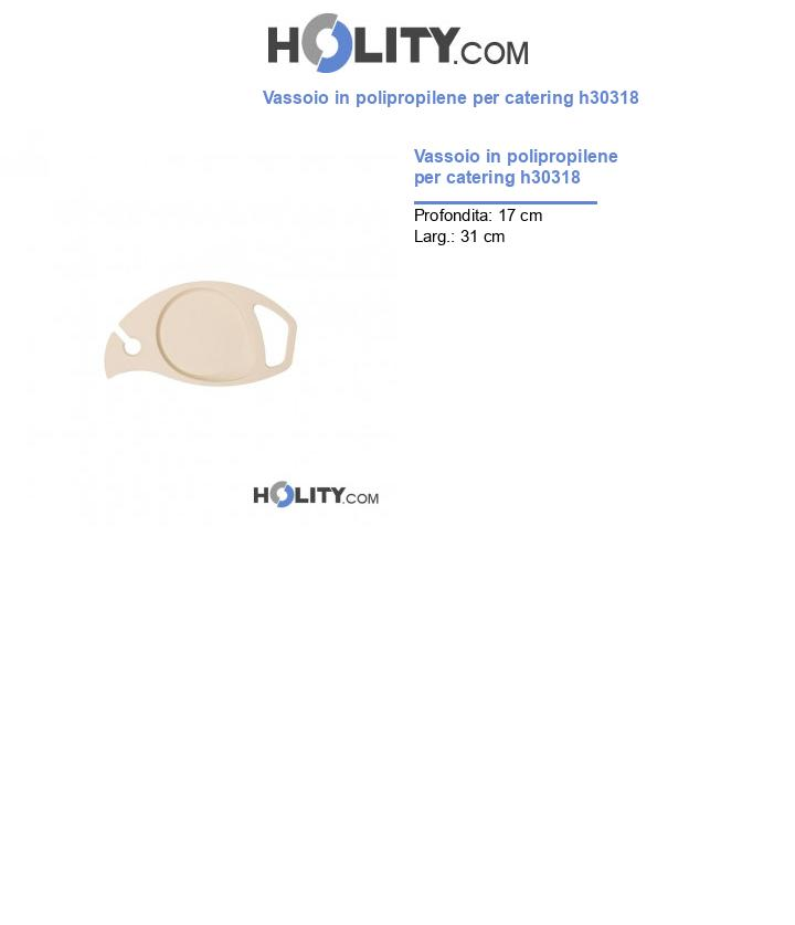 Vassoio in polipropilene per catering h30318