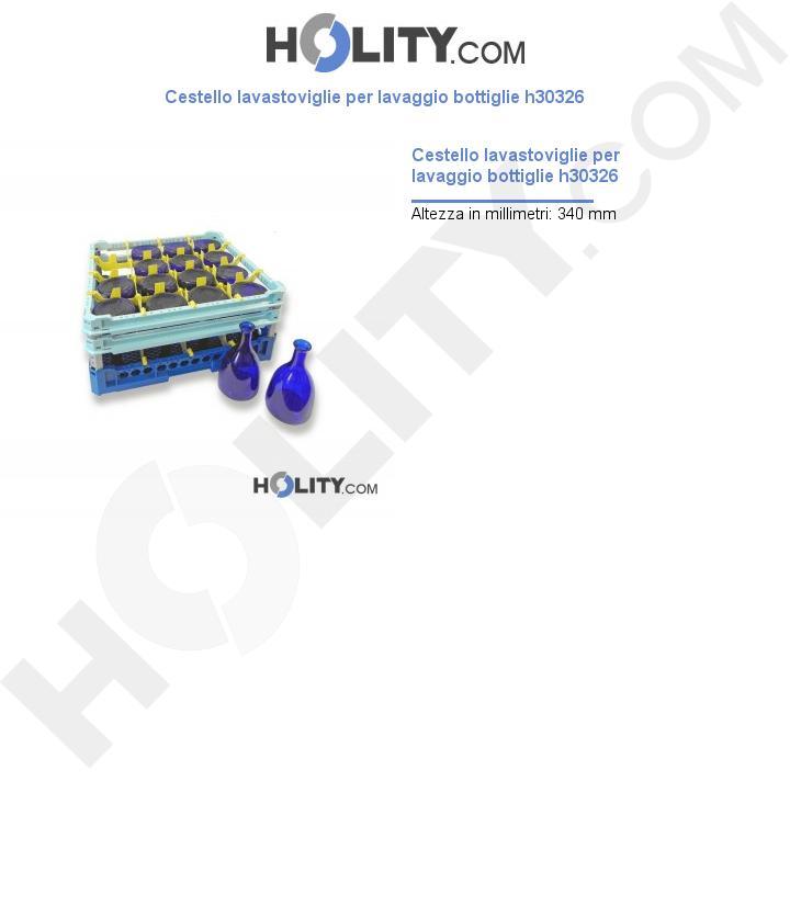 Cestello lavastoviglie per lavaggio bottiglie h30326