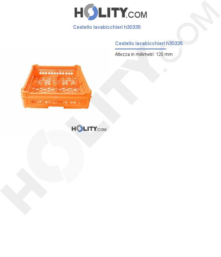 Cestello lavabicchieri h30335