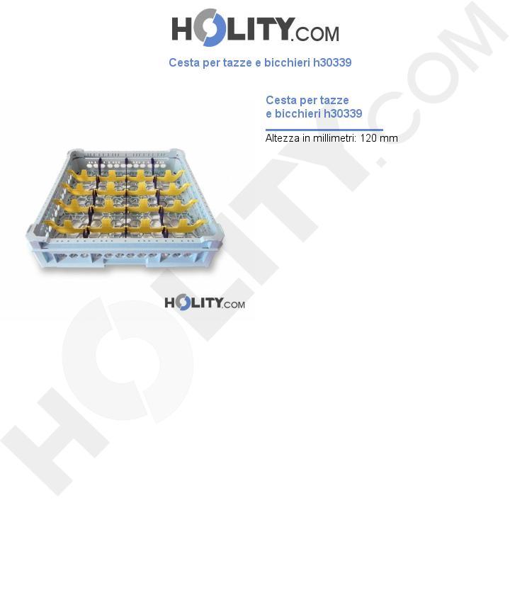 Cesta bicchieri per lavastoviglie h30339