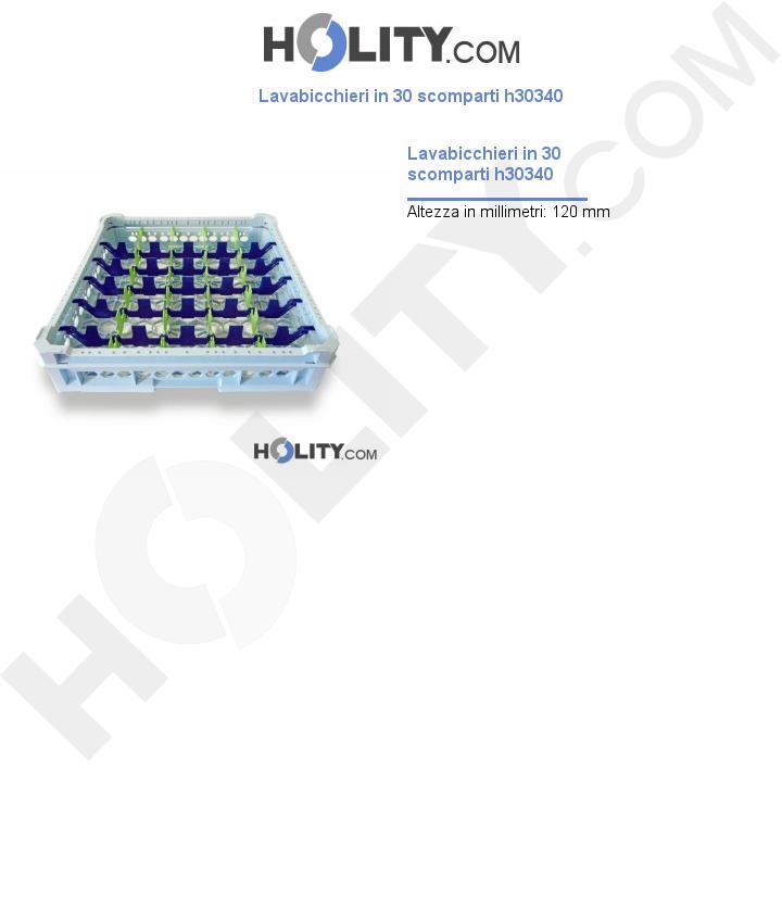 Lavabicchieri in 30 scomparti h30340