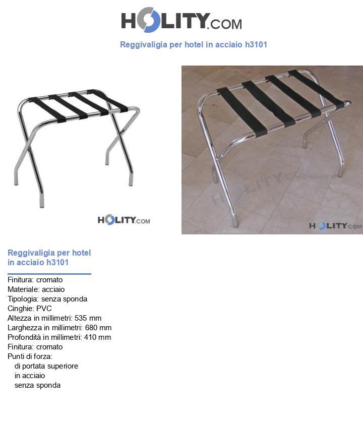 Reggivaligia per hotel in acciaio 52x68 h3101