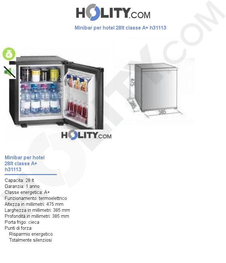 Minibar per hotel 28lt classe A+ h31113