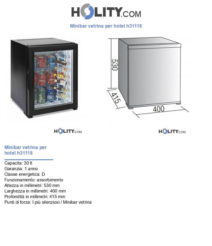 Minibar vetrina per hotel h31118