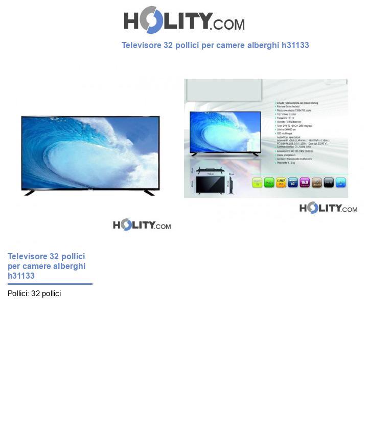 Televisore 32 pollici per camere alberghi h31133