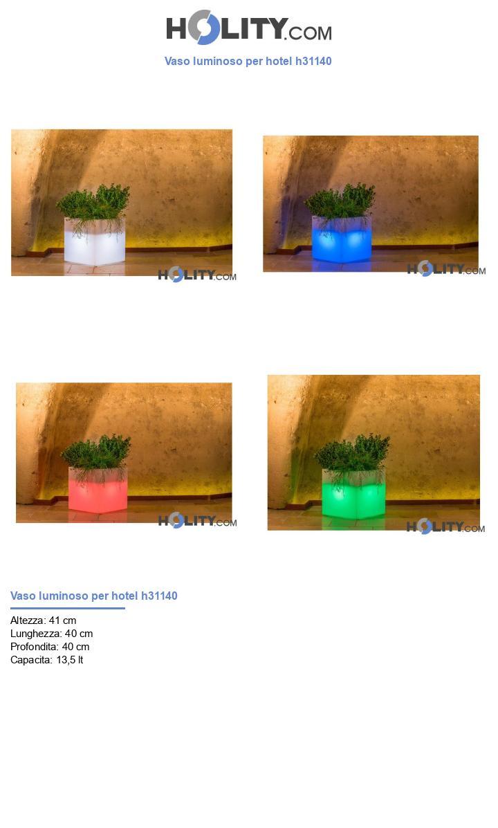 Vaso luminoso per hotel h31140