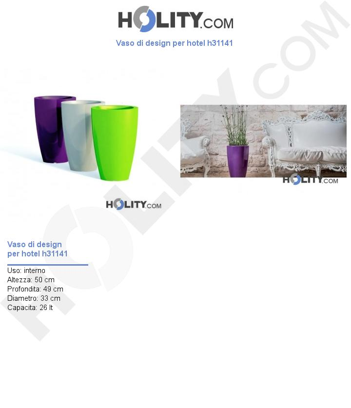 Vaso di design per hotel h31141