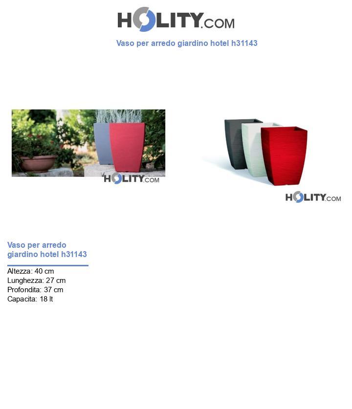 Vaso per arredo giardino hotel h31143