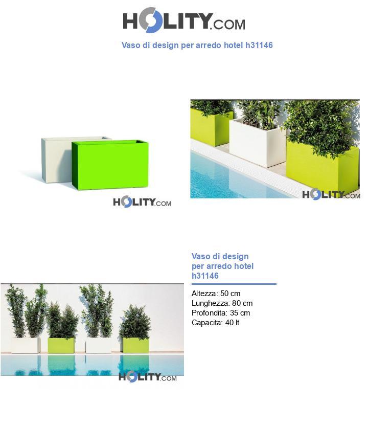 Vaso di design per arredo hotel h31146