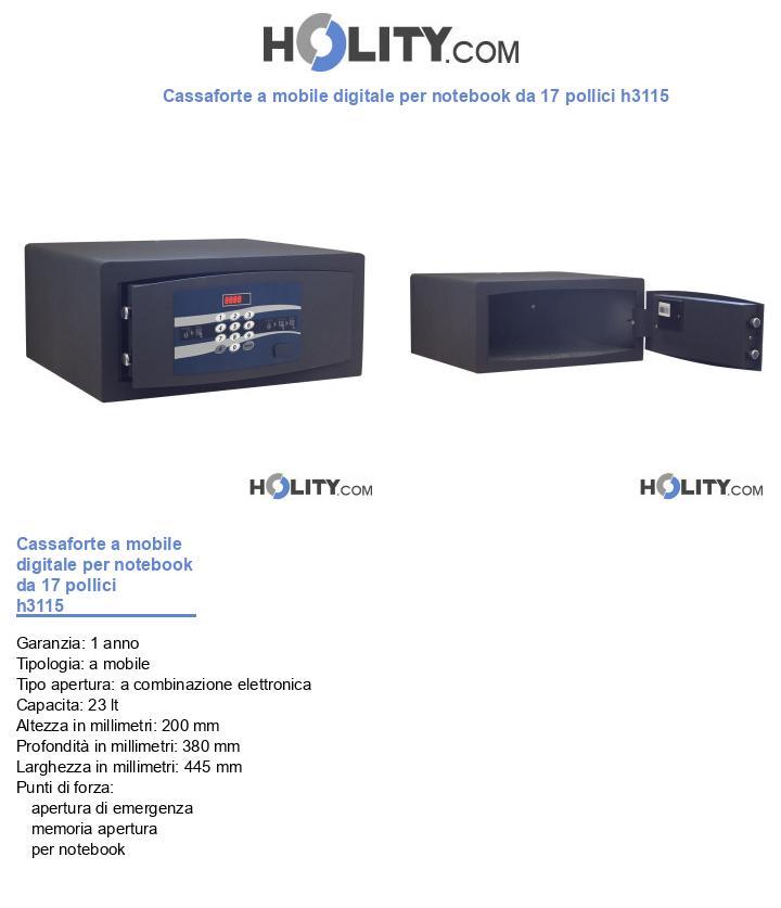 Cassaforte per hotel digitale h3115