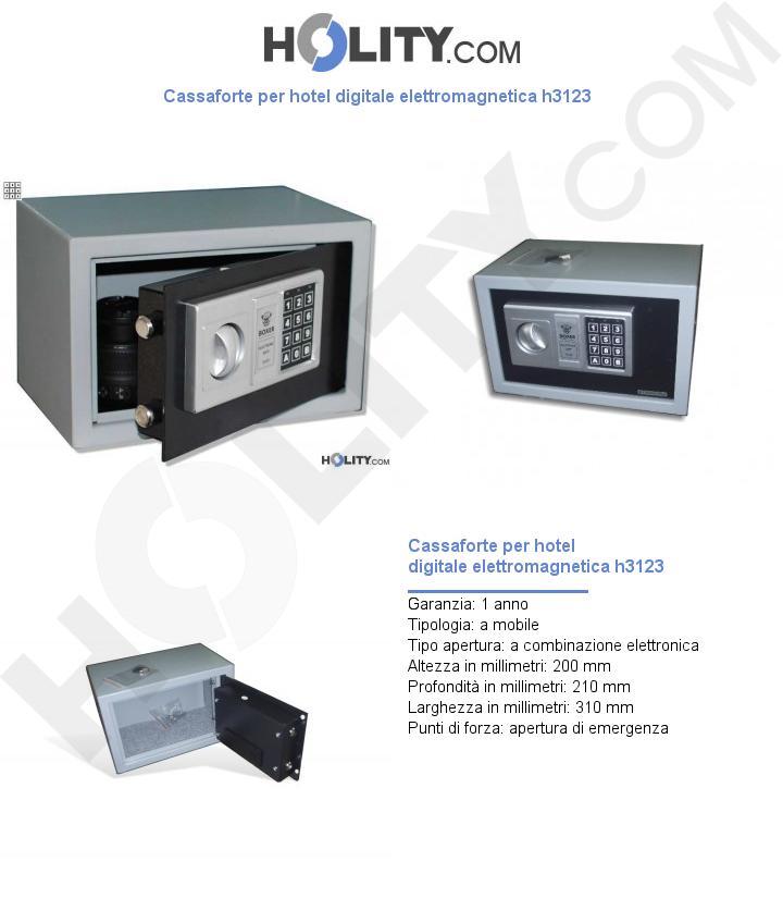 Cassaforte per hotel digitale elettromagnetica h3123