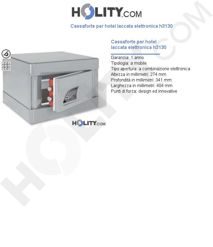 Cassaforte per hotel laccata elettronica h3130