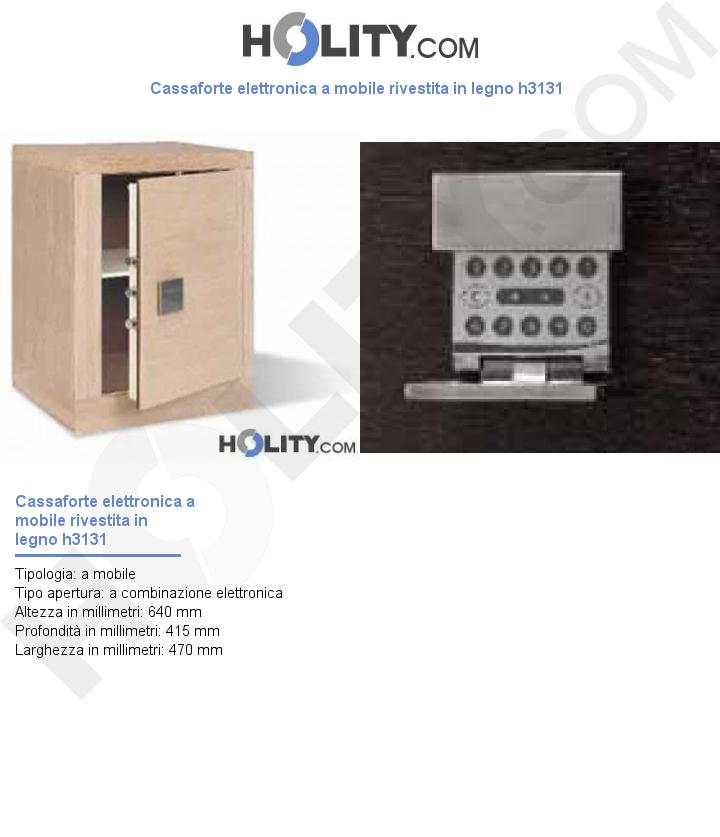 Cassaforte elettronica a mobile rivestita in legno h3131