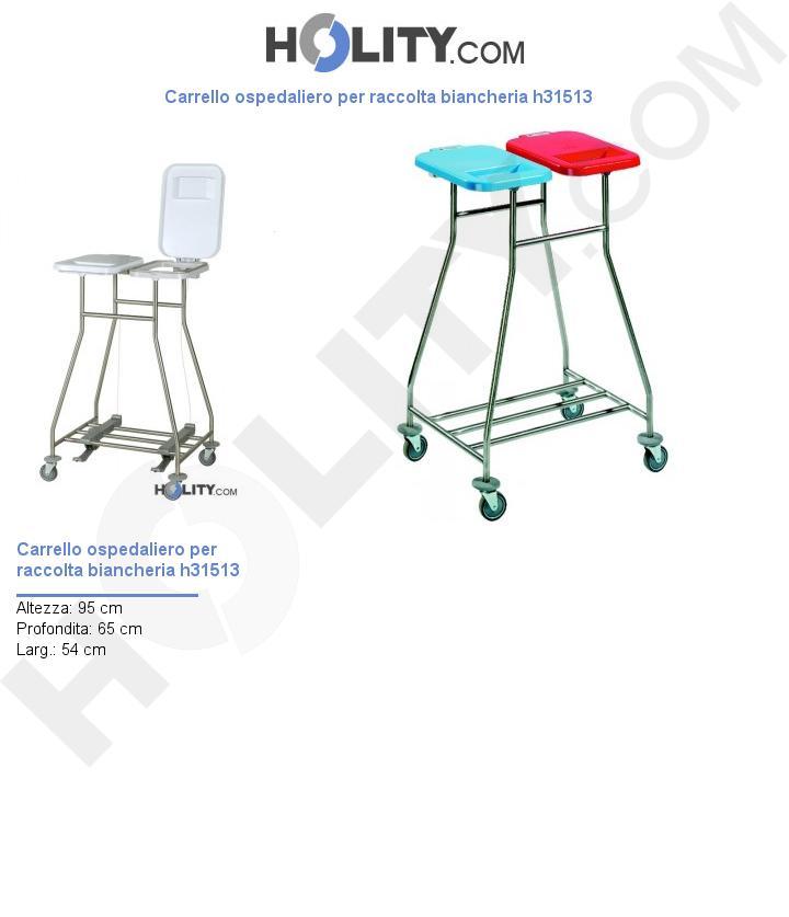 Carrello ospedaliero per raccolta biancheria h31513