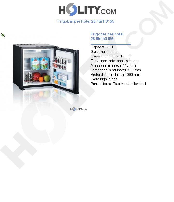 Frigobar per hotel 28 litri h3155