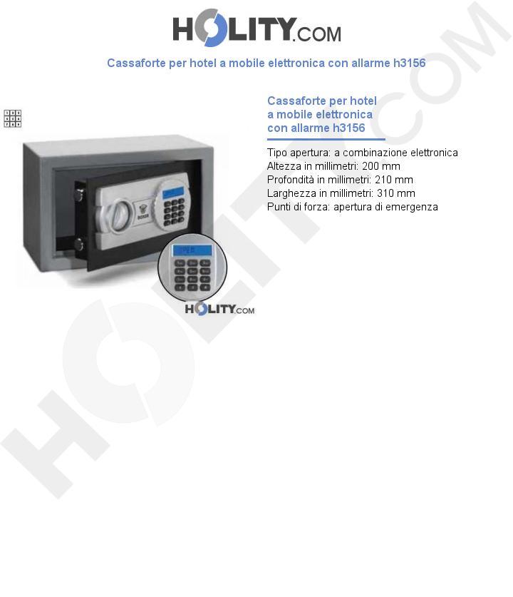 Cassaforte per hotel a mobile elettronica con allarme h3156