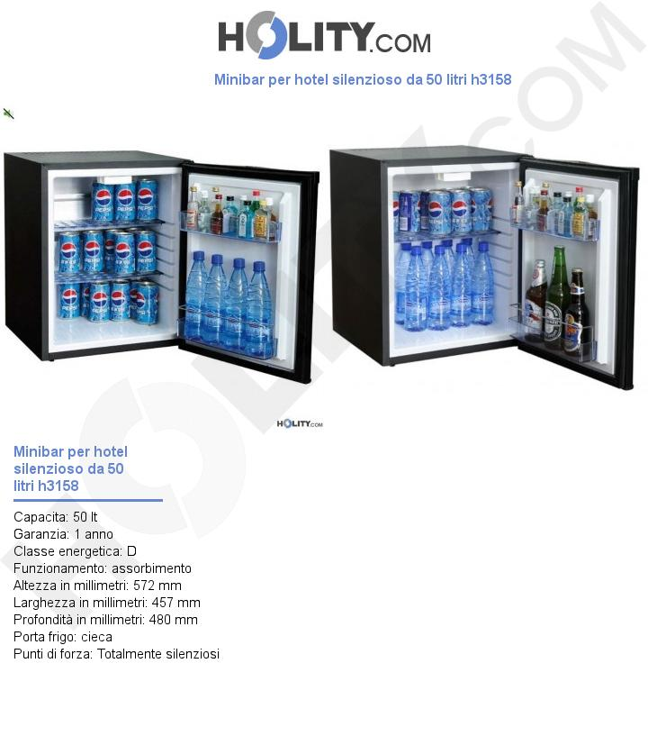 Minibar per hotel silenzioso da 50 litri h3158