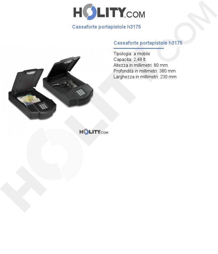 Cassaforte portapistole h3175