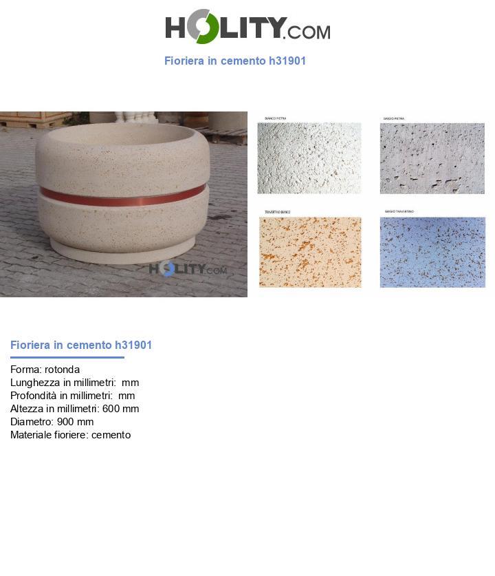 Fioriera in cemento h31901