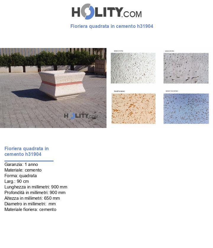 Fioriera quadrata in cemento h31904