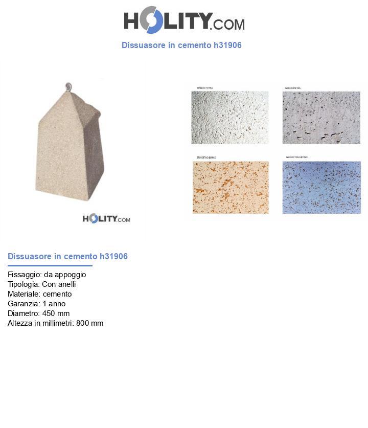Dissuasore in cemento h31906