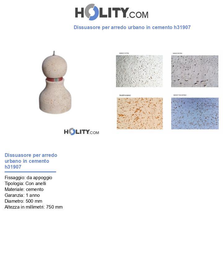 Dissuasore per arredo urbano in cemento h31907