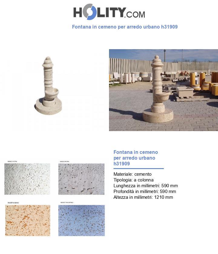 Fontana in cemeno per arredo urbano h31909