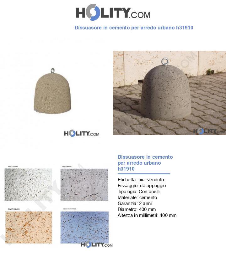 Dissuasore in cemento per arredo urbano h31910
