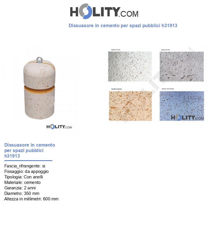Dissuasore in cemento per spazi pubblici h31913