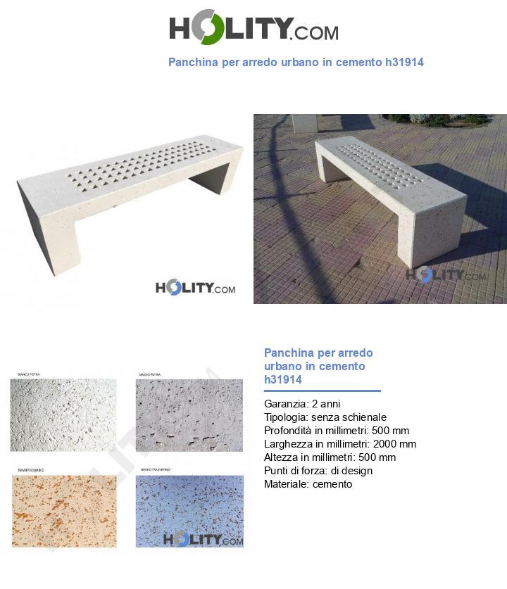 Panchina per arredo urbano in cemento h31914