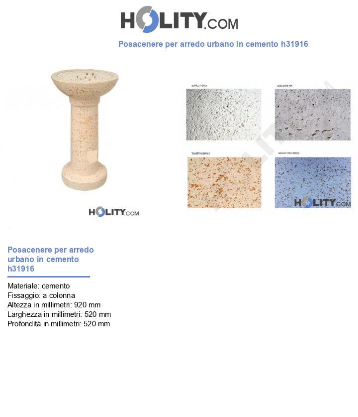 Posacenere per arredo urbano in cemento h31916