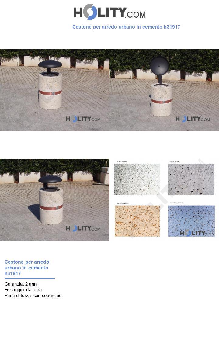 Cestone per arredo urbano in cemento h31917