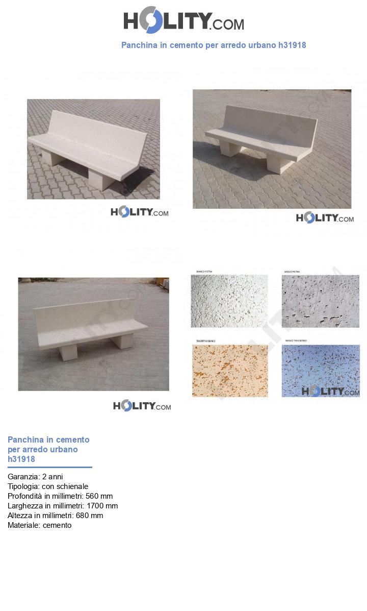 Panchina in cemento per arredo urbano h31918
