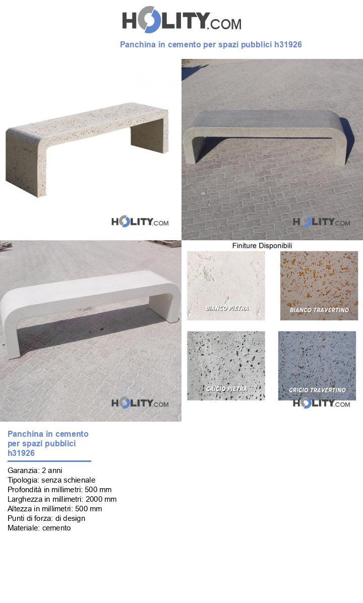 Panchina in cemento per spazi pubblici h31926
