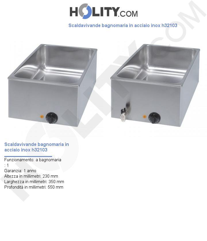Scaldavivande bagnomaria in acciaio inox h32103